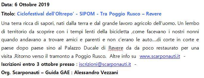 CICLOFESTIVAL DEI PARCHI DELL'OLTREPO - Tra Poggio Rusco e Revere @ Poggio Rusco - Revere